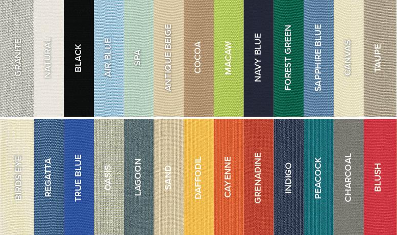 Sunbrella 26 colors